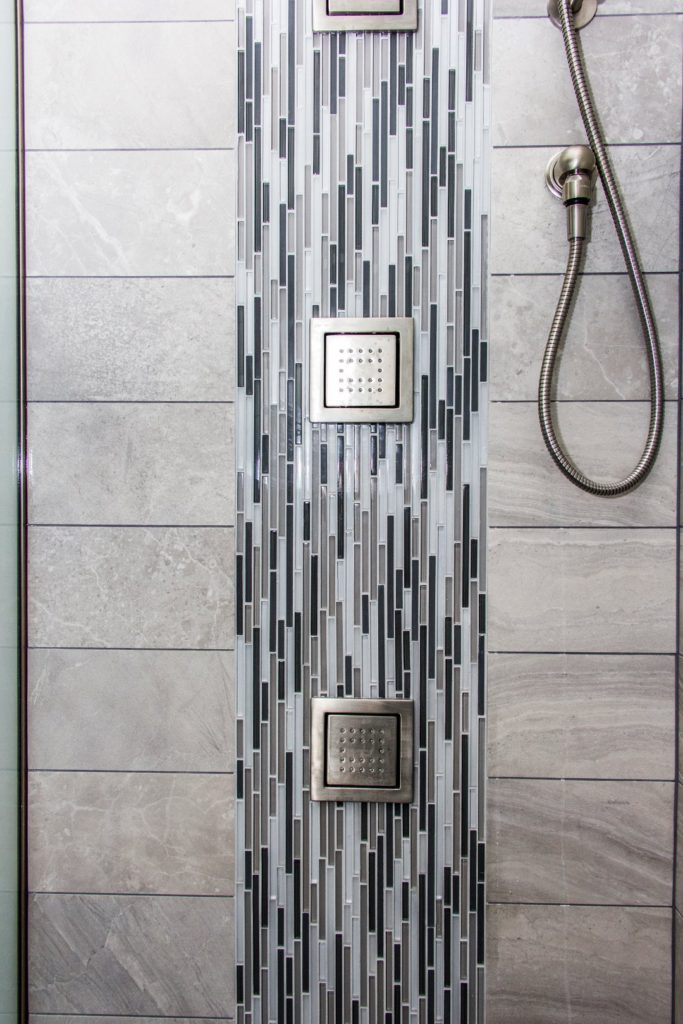 Tile Shower Waterfall pattern
