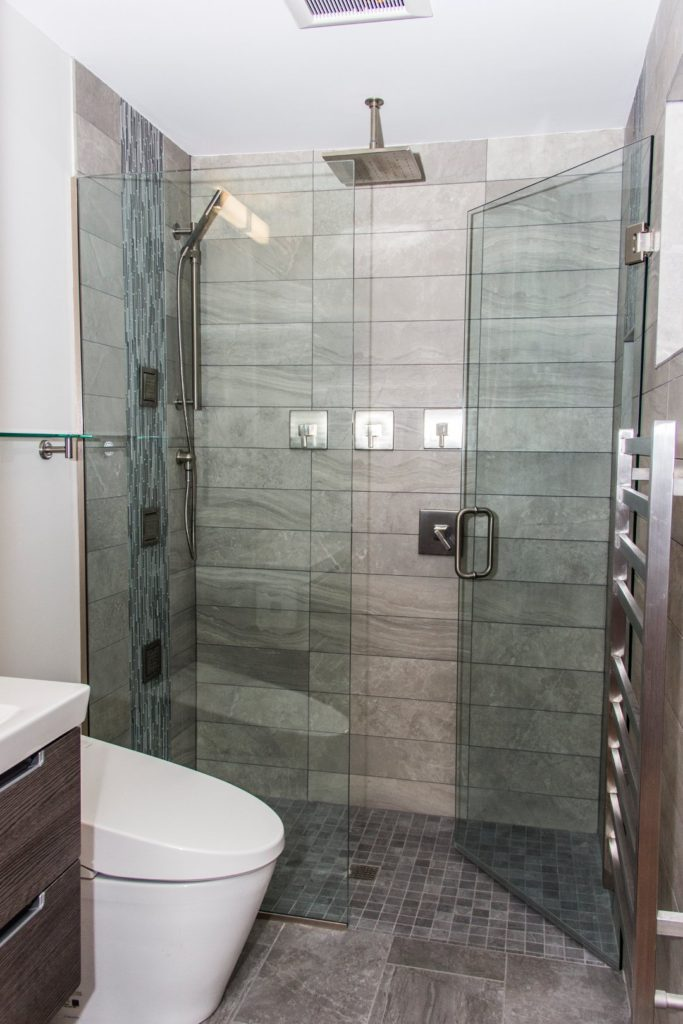 portland bathroom remodel with tiled curbless shower