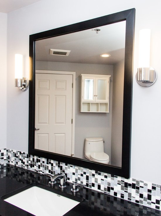 Black And White Mosaic Kitchen And Bathroom Let S Remodel
