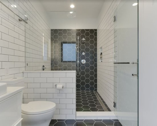 Hexagon And Subway Tile Bathroom Renovation Let S Remodel