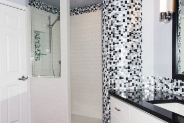 Black and White Mosaic Kitchen and Bathroom